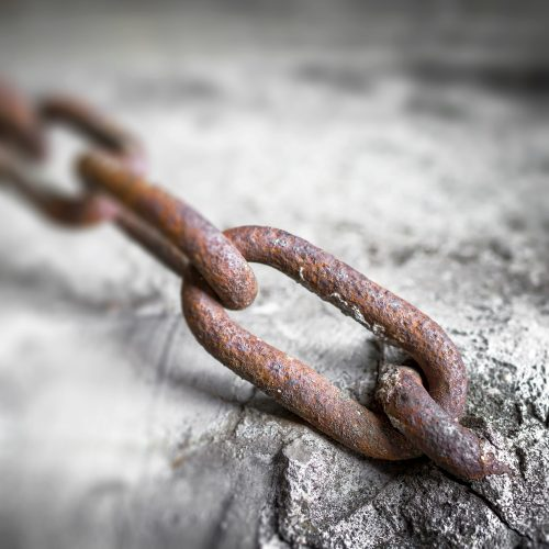 Rusty chain link