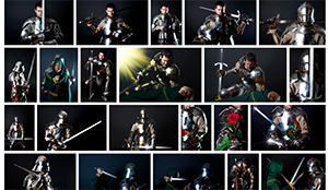 Stock photos of a knight for ebook  covers.