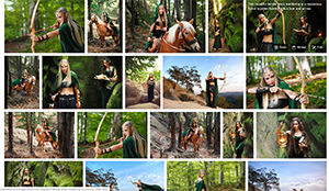 Shutterstock gallery with female elf stock photos.