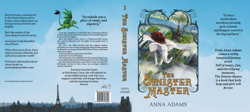 Hardback jacket for The Sinister Master by Anna Adams
