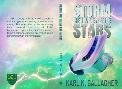 Cover of Karl Gallagher's Storm between the stars