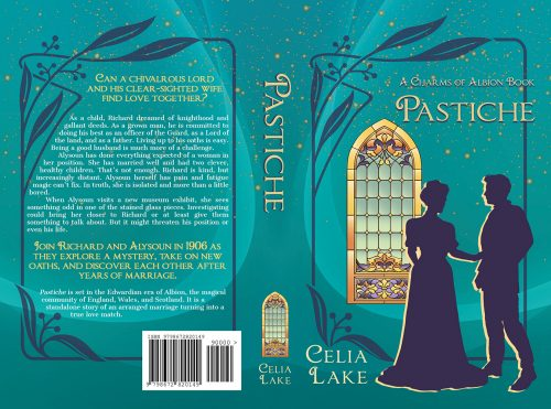 Paperback cover for Celia Lake's Pastiche