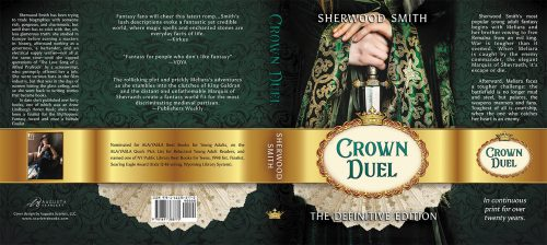 Hardback jacket cover for Sherwood Smith's Crown Duel