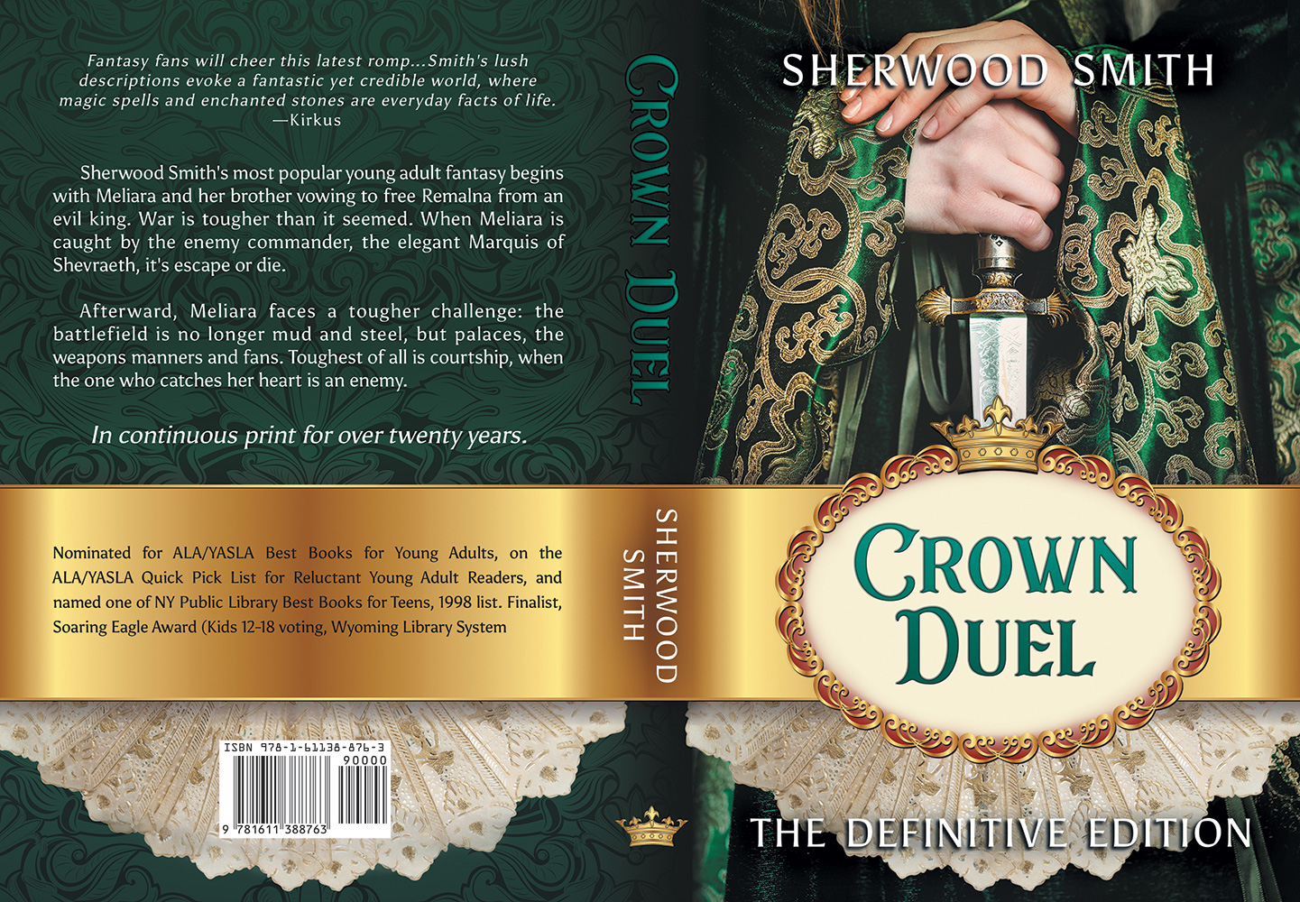 Paperback cover for Sherwood Smith's Crown Duel