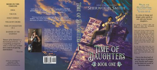 Hardback jacket for Sherwood Smith's Time of Daughters
